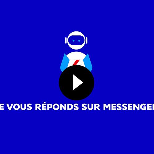 Vidéo réalisée pour la présentation de la sortie officielle du ChatBot d'Air France
