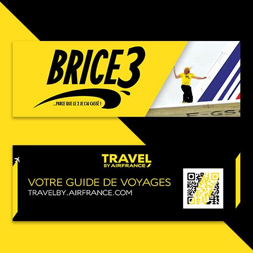 Goodies (marque-page) réalisés pour l'avant première de Brice de NIce 3 réalisé en partenariat avec Air France
