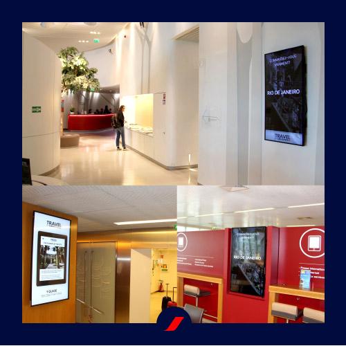 Vidéos présentant quelques destinations Air France diffusées dans les Salons réservées aux classes Business et Première
