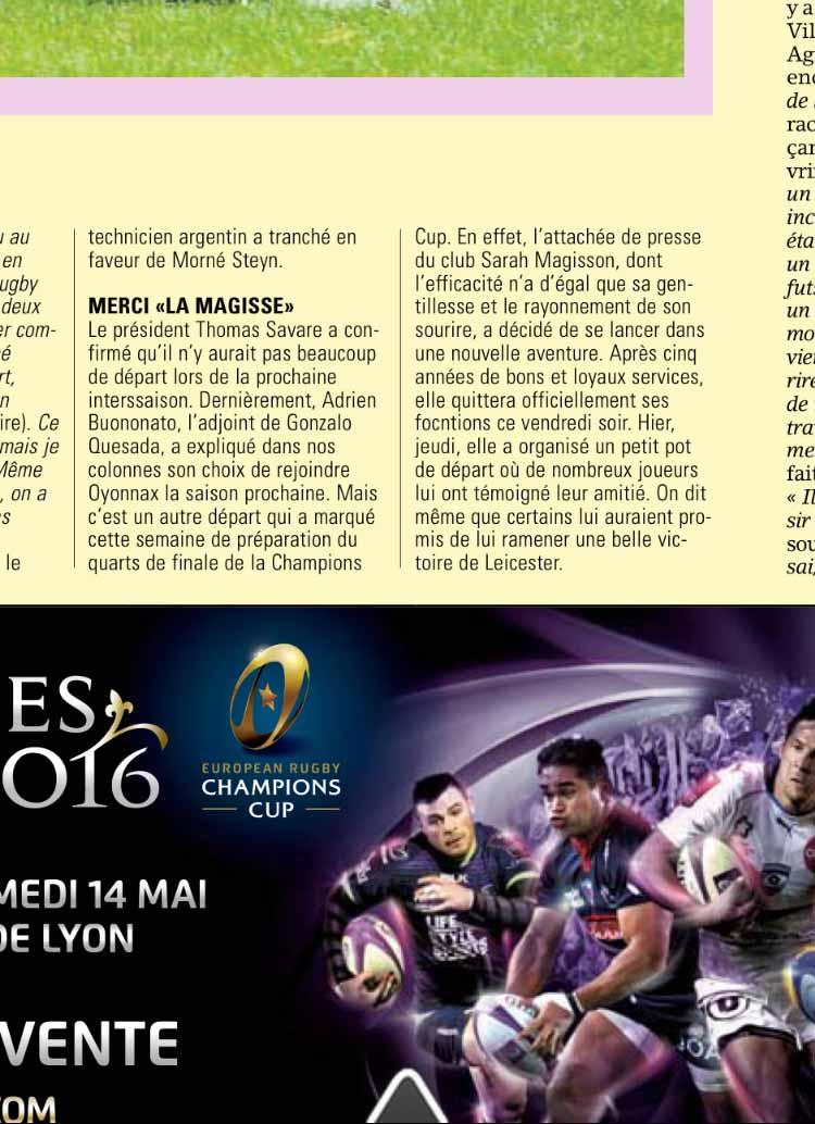 Article Midi Olympique 2015