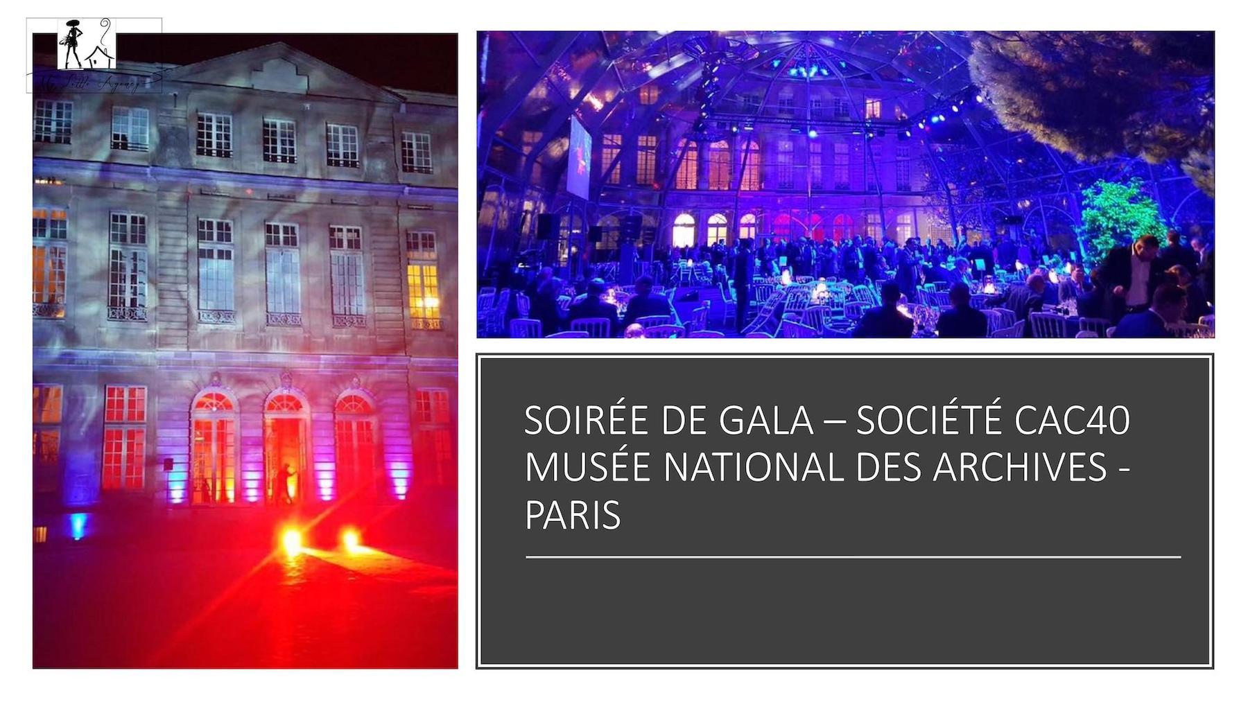 SOIREE ARCHIVES DE PARIS